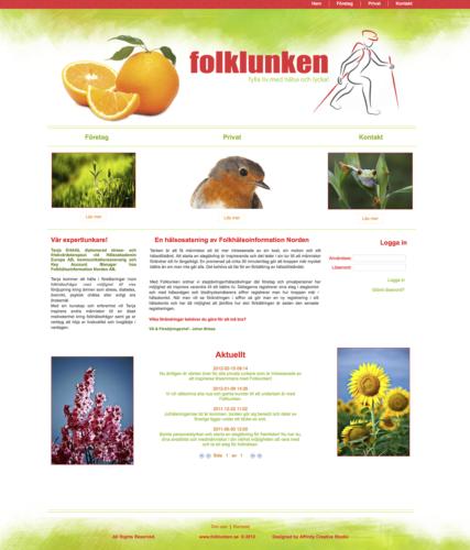 Webbsidan Folklunken