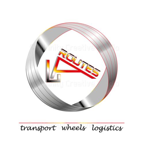 Logotyp w 3D dla LaRoutes